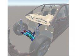电动汽车助力转向VR教学软件